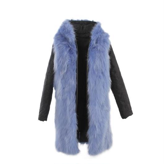 Colored Furモッズコート スペアライナー《オールリアルファー/Long》
