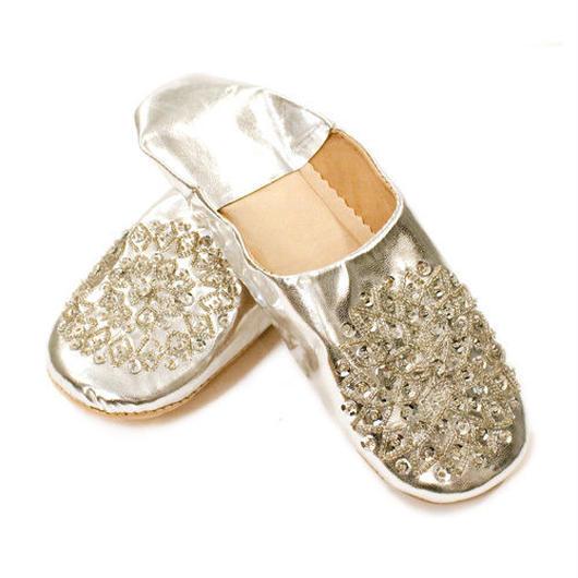 Moroccanバブーシュ《Silver》