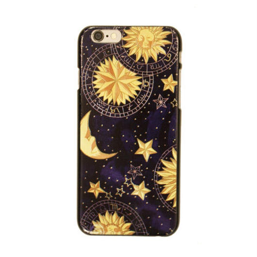 Star&Moon Print iPhoneケース