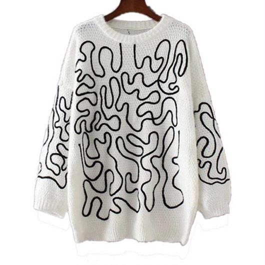 Ropeルーズセーター