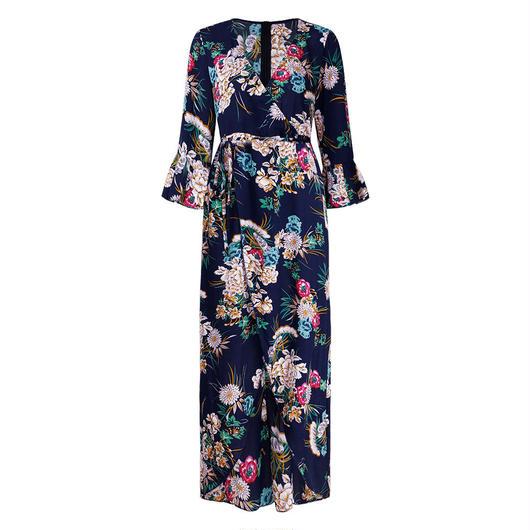 Floral Wrap ドレス