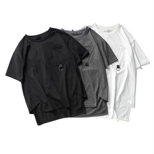 [NEW]アンバランスデザインロング丈Tシャツ 3カラー