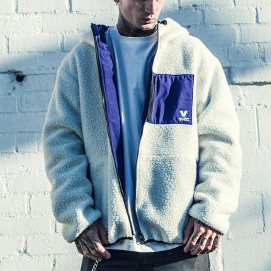 【STREET】リバーシブルデザインフリースジャケット 2カラー