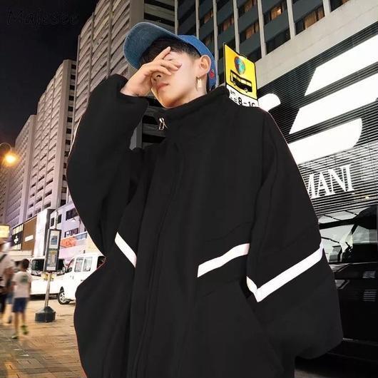 【トレンド】ビックサイズワンラインデザインジャケット 5カラー