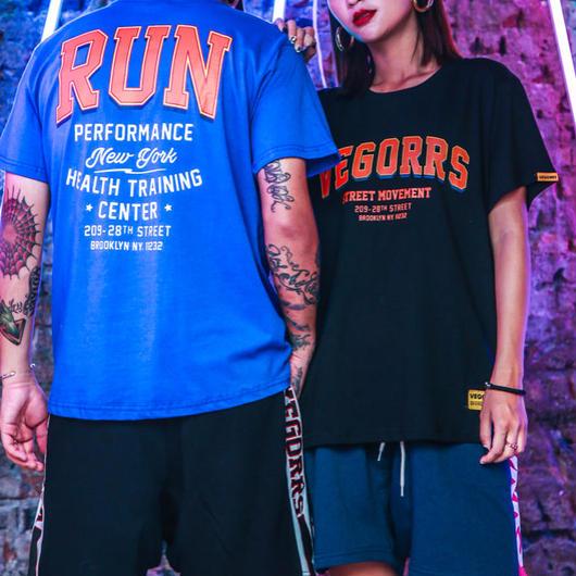 【HOT】RUNデザインTシャツ 3カラー