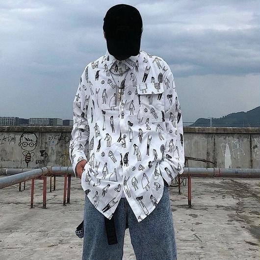【HOT】アートデザインシャツ 3カラー