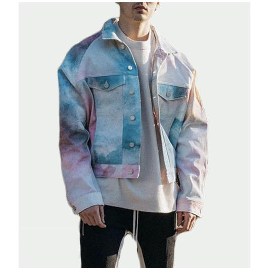 【HOT】ペイント風デザインジャケット