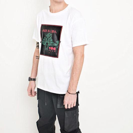 【大人気】MADE IN CHINAデザインTシャツ 4カラー