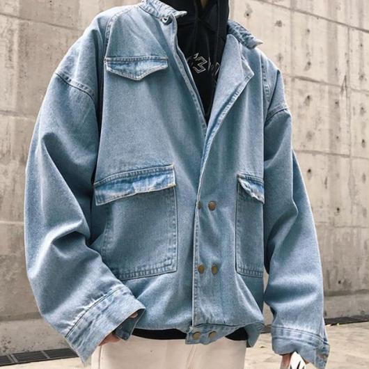 【売り切れ間近】ビックサイズ特殊パターンデニムジャケット 2カラー