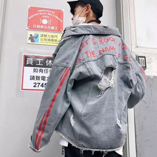 【GOOD】ダメージMadeデザインデニムジャケット 2カラー