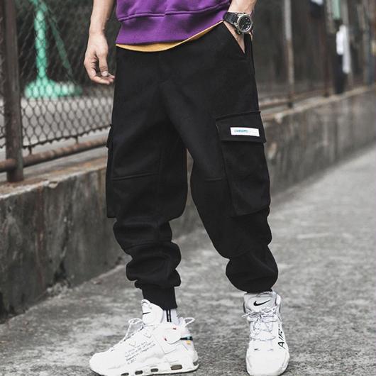 【COOL】ポケットデザインコーデュロイ風ラフパンツ 3カラー