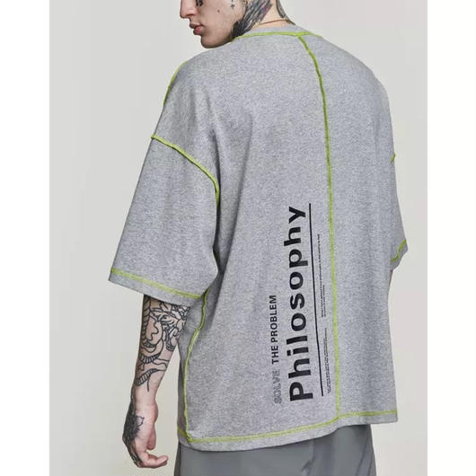 【大人気】PhilosophyデザインビックTシャツ 2カラー