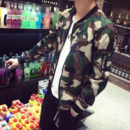 【春服】迷彩柄ジャケット