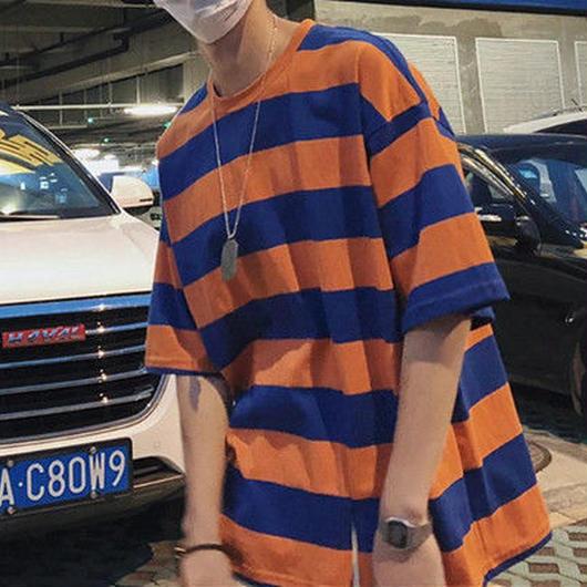 [GOOD]ツートンカラーボーダービックTシャツ 2カラー