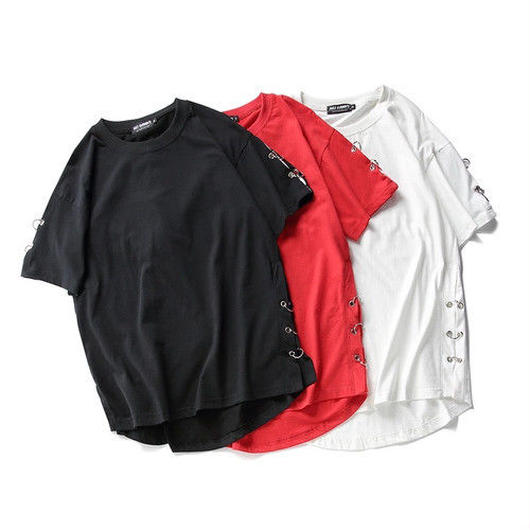 [STREET]ビックサイズリング付デザインTシャツ 3カラー