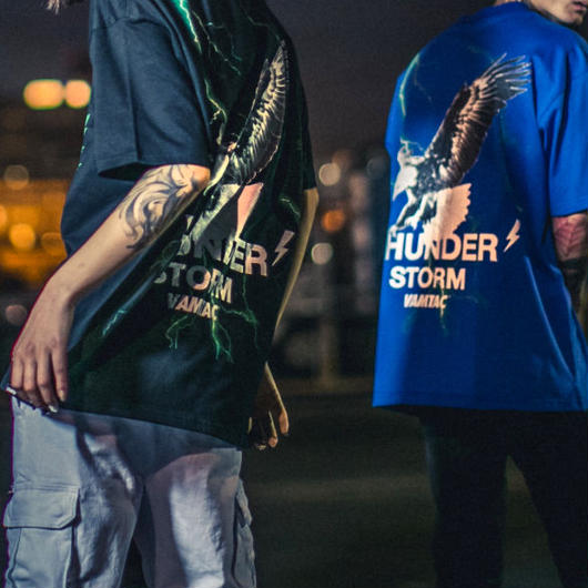 【HOT】THUNDERデザインTシャツ 2カラー