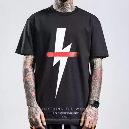 【売り切れ間近】サンダーデザインTシャツ 2カラー