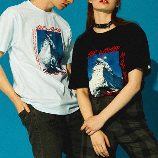 【大人気】マウンテンデザインTシャツ 2カラー