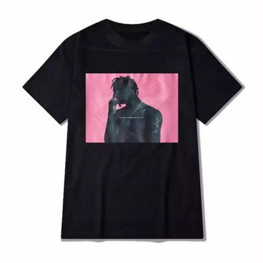 【大人気】ピンクカラーHIPHOPデザインTシャツ