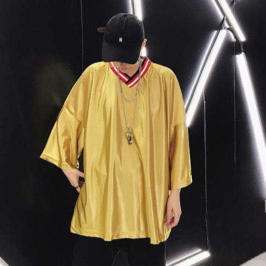 【HIPHOP】イエロービックサイズTシャツ