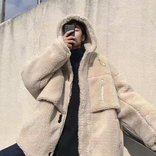 【売り切れ間近】ビックサイズウールデザインボンバージャケット 2カラー