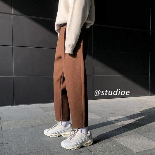 【DOPE】厚手シンプルデザインラフパンツ 3カラー