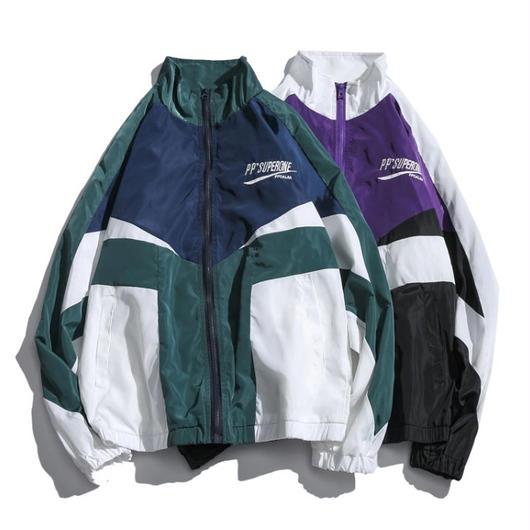 【DOPE】バイカラーデザインジャケット 2カラー