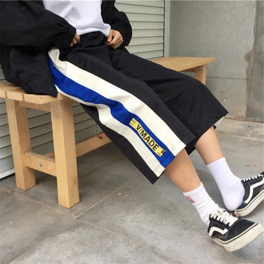 [売れ筋]ライン7部丈デザインパンツ