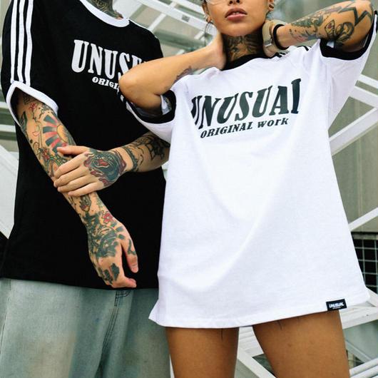 【COOL】UNUモノクロカラーデザインTシャツ 2カラー