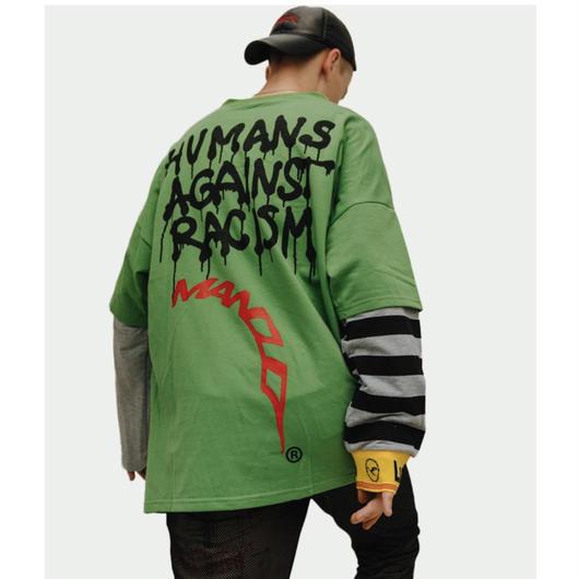 【STREET】HUMANSロングスリーブTシャツ 2カラー