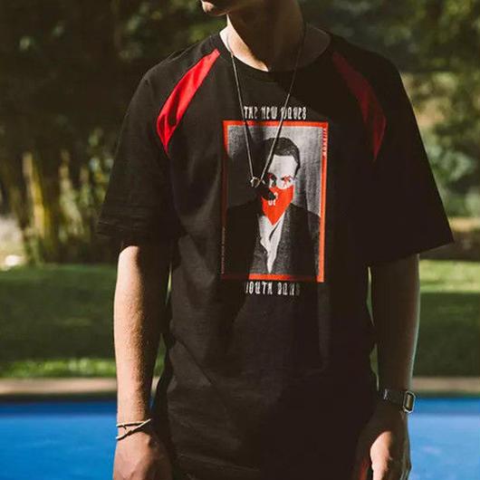 【HOT】08デザインブラックTシャツ