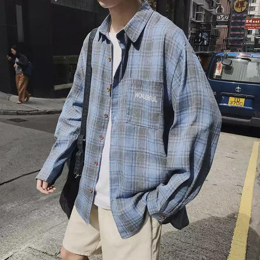 【トレンド】Wonderfulデザインシャツ 4カラー