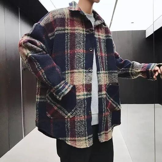 【大人気】ビックチェックデザインジャケット 2カラー