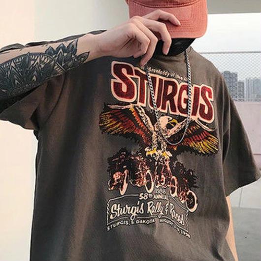 [HOT]イーグルデザインTシャツ 2カラー