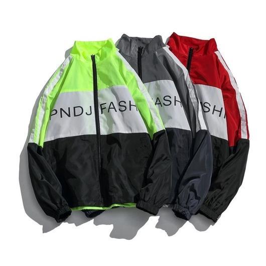 【大人気】FASHデザインカラフルジャケット 3カラー