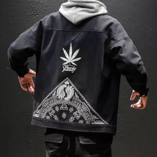 【GOOD】リーフデザインジャケット 3カラー