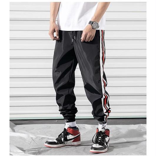 【大人気】ブラック2ラインデザインラフパンツ 3カラー