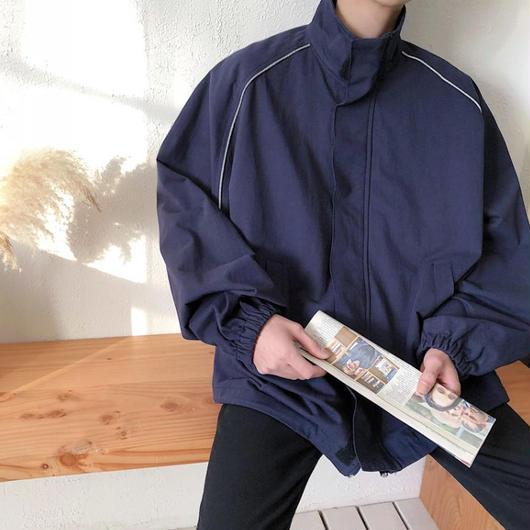 【HOT】シンプルタートルネックジャケット 2カラー