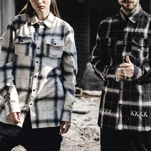 【大人気】xxxxデザインチェックシャツ 2カラー