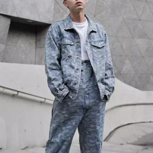 【大人気】特殊デザインストリートデニムジャケット