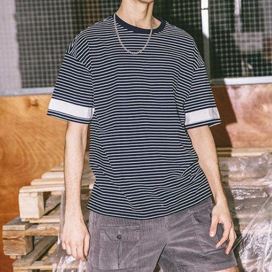 【STREET】ホワイトラインボーダーTシャツ