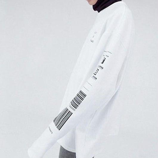 [大人気]コードデザイン長袖Tシャツ 2カラー
