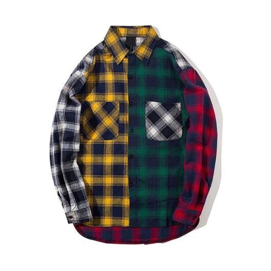 【売れ筋】カラフルカラーデザインシャツ