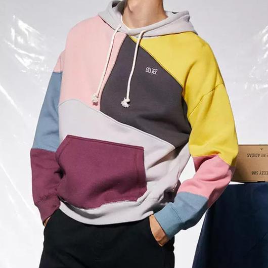 【大人気】カラーパターンデザインフーディー 2カラー