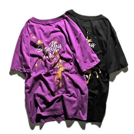 [COOL]ペイントデザインTシャツ 2カラー