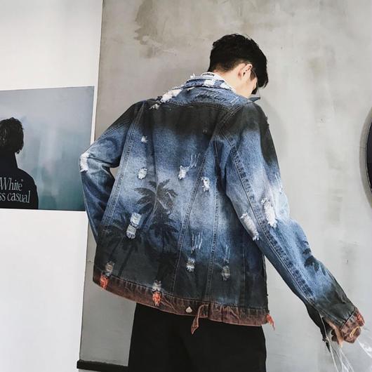 【COOL】パルムデザインデニムジャケット