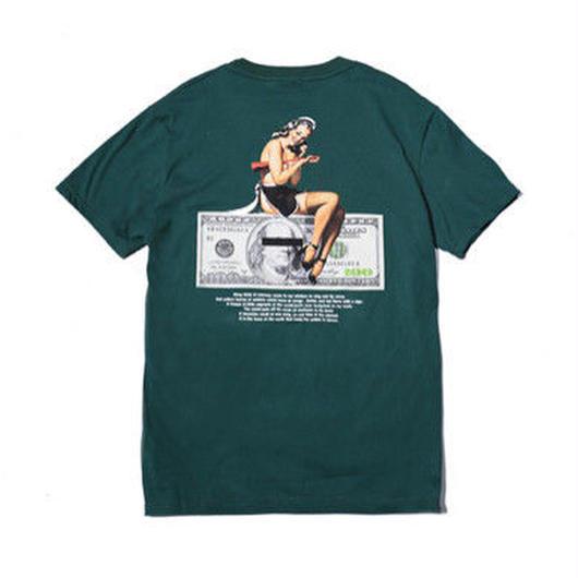 [売り切れ間近]DollarデザインTシャツ 4カラー