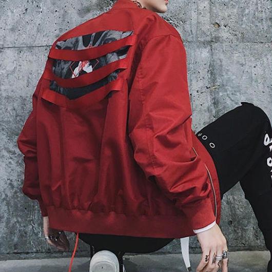 【売れ筋】バックダメージデザインジャケット 2カラー