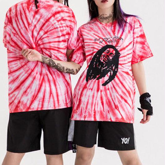 [GOOD]ピンク奇抜デザインTシャツ