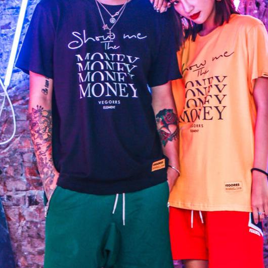 【売れ筋】MoneyプリントTシャツ 4カラー